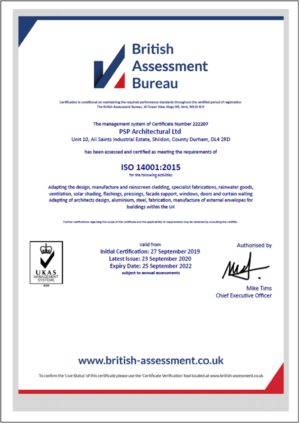 ISO14001 – PSP Architectural