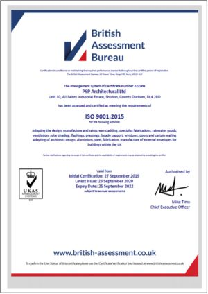 ISO9001 – PSP Architectural