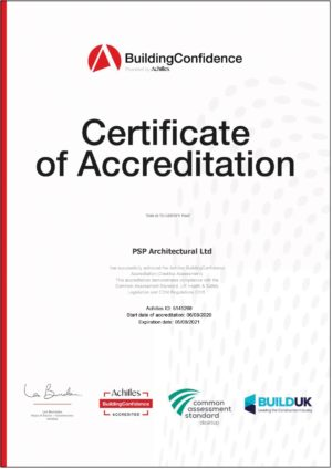 PSP Architectural Achilles Certificate of Accreditation