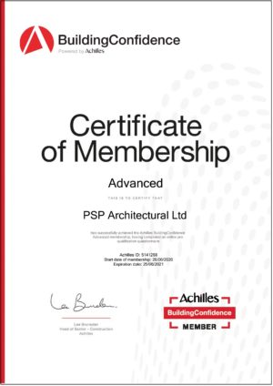 PSP Architectural Achilles Certificate of Membership